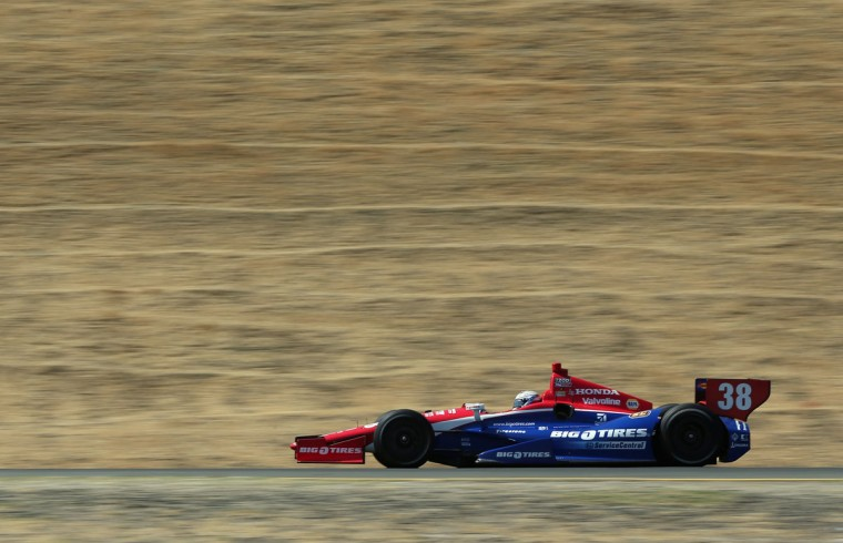 Graham Rahall drives the #38 Service Central Chip Ganassi Racing Honda during practice for the GoPro Indy Grand Prix of Sonoma at Sonoma on August 25, 2012 in Sonoma, California. (Jeff Gross/Getty Images) ORG XMIT: 148727120