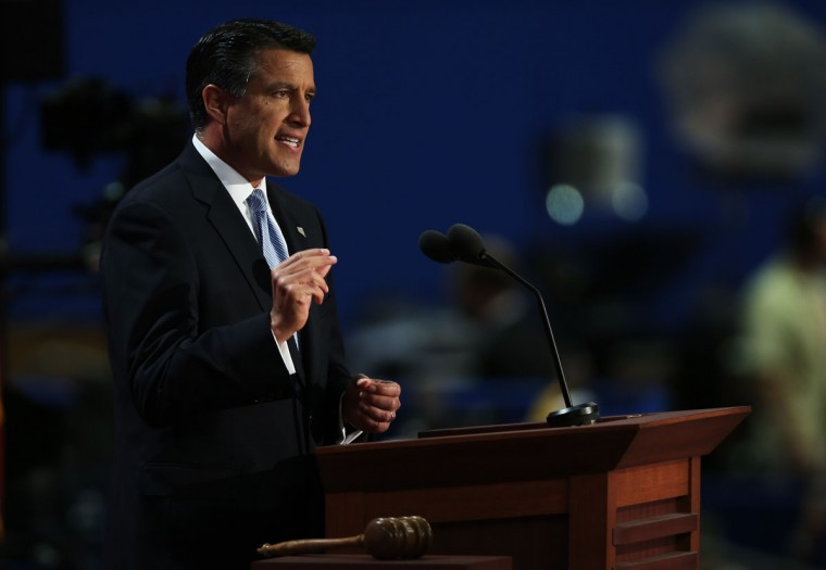 Nevada Gov. Brian Sandoval speaks during the Republican National Convention at the Tampa Bay Times Forum on August 28, 2012 in Tampa, Florida. (Win McNamee/Getty Images)