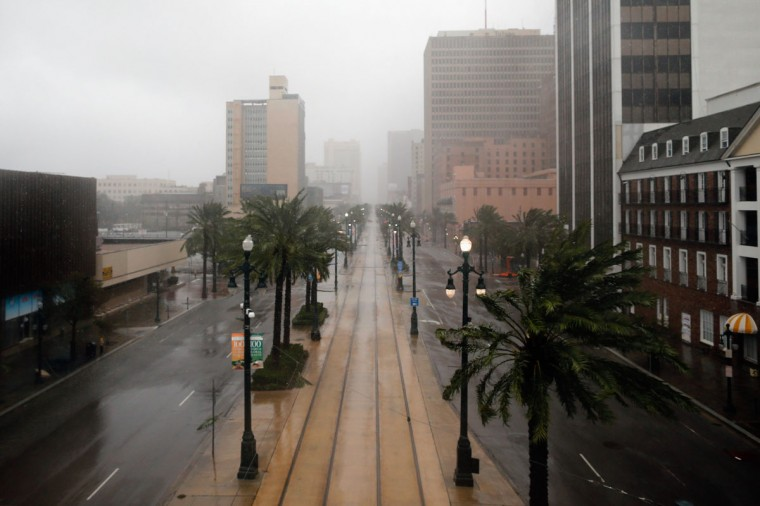 Canal Street sits empty during Hurricane Isaac on August 29, 2012 in New Orleans, Louisiana. (Chris Graythen/Getty Images)