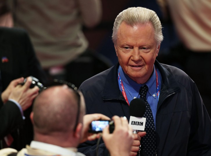 Actor Jon Voight gives an interview to the BBC during the final day of the Republican National Convention at the Tampa Bay Times Forum in Tampa, Florida. (Win McNamee/Getty Images)