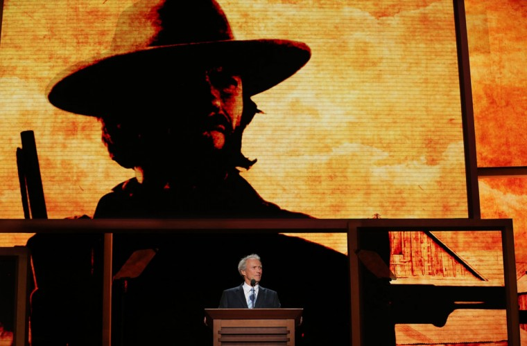 Actor/Director Clint Eastwood speaks during the final day of the Republican National Convention at the Tampa Bay Times Forum in Tampa, Florida. (Chip Somodevilla/Getty Images)