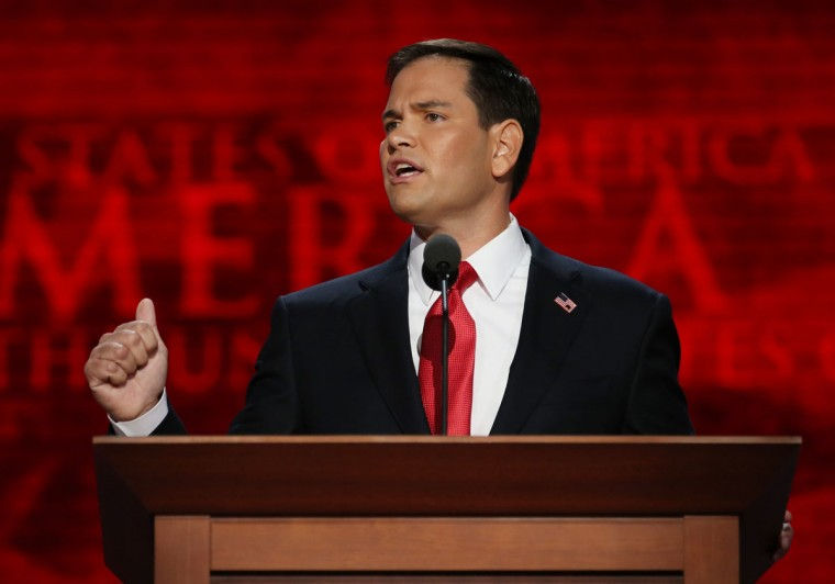U.S. Senator Marco Rubio (FL) speaks during the final day of the Republican National Convention at the Tampa Bay Times Forum in Tampa, Florida. (Chip Somodevilla/Getty Images)