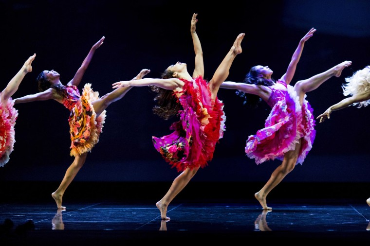 Dancers preform during a dress rehearsal for the musical West Side Story at the German Oper (Deutsche Oper) which premiered in Berlin, Germany, on June 26, 2012. (Carsten Koall/AFP/Getty Images)