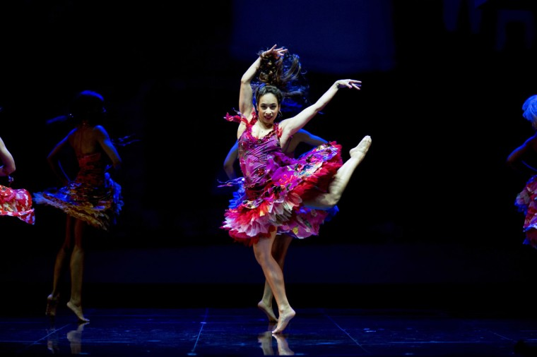 Dancers perform during a dress rehearsal for the musical West Side Story at the German Oper (Deutsche Oper) which premiered in Berlin, Germany, on June 26, 2012. (Carsten Koall/AFP/Getty Images)
