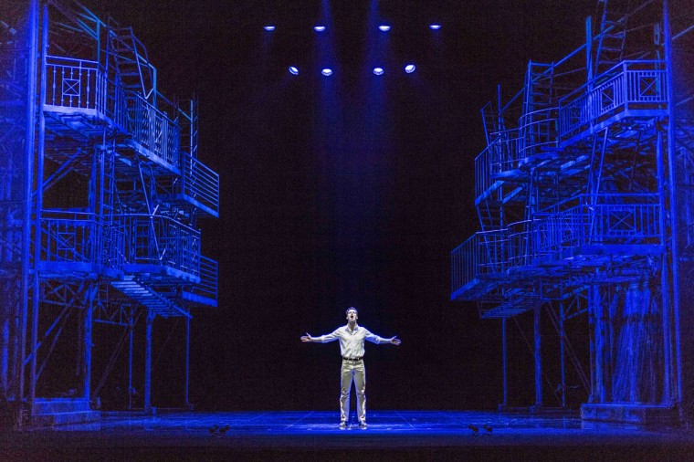 Liam Tobin as Tony performs during a dress rehearsal for the musical 'West Side Story' at the German Oper (Deutsche Oper) which premiered in Berlin, Germany, on June 26, 2012. (Carsten Koall/AFP/Getty Images)