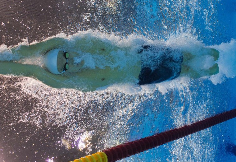 France's Yannick Agnel competes in the men's 200m freestyle heats swimming event at the London 2012 Olympic Games on July 29, 2012 in London. (Francois Xavier Marit/AFP/Getty Images)