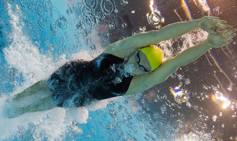 Australia's Leisel Jones competes in the women's 100m breaststroke heats swimming event at the London 2012 Olympic Games on July 29, 2012 in London. (Francois Xavier Marit/AFP/Getty Images)