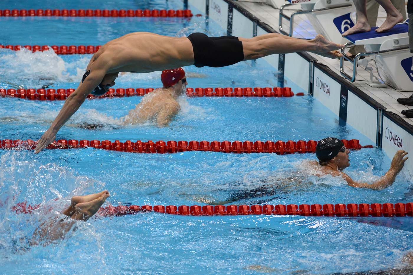 Michael phelps - Olympic swimming starting blocks ...