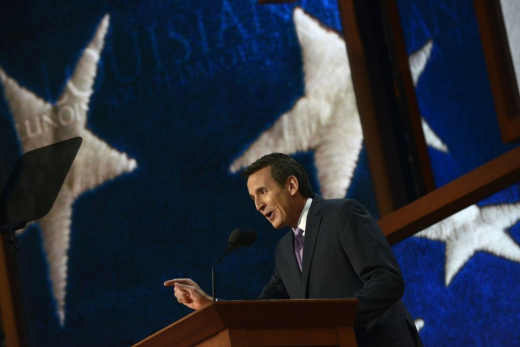 Minnesota Governor Tim Pawlenty speaks at the Tampa Bay Times Forum in Tampa, Florida, on August 29, 2012 during the Republican National Convention (RNC). (Brendan Smialowski/AFP/Getty Images)