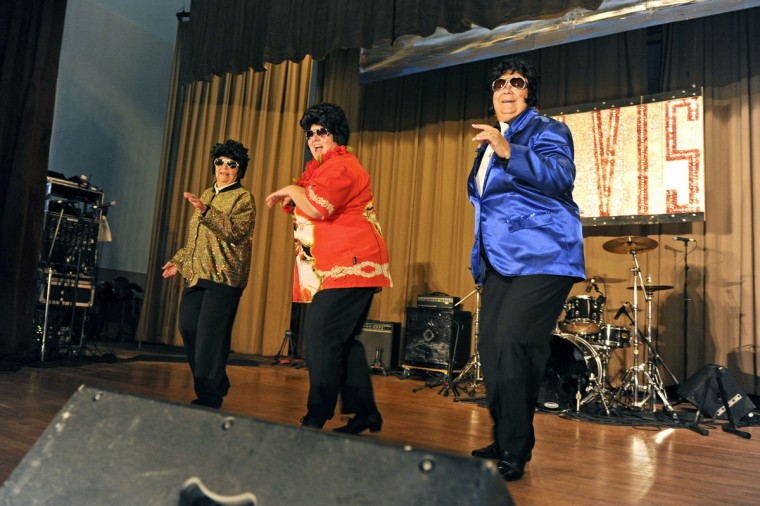 December 3, 2010: The Gracelanders, a group a grandmothers from Ontario, Canada, dance to the sounds of Elvis Presley at the annual Night of 100 Elvises at the Lithuanian Hall. (Baltimore Sun)