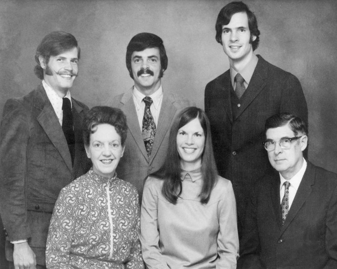 A 1974 photography of the Henn family. In the foreground, left to right, mother Dorothy, Joan and father Charles. In the background are, left to right, Donald, Bruce and Thomas. (Family photo/Baltimore Sun file)