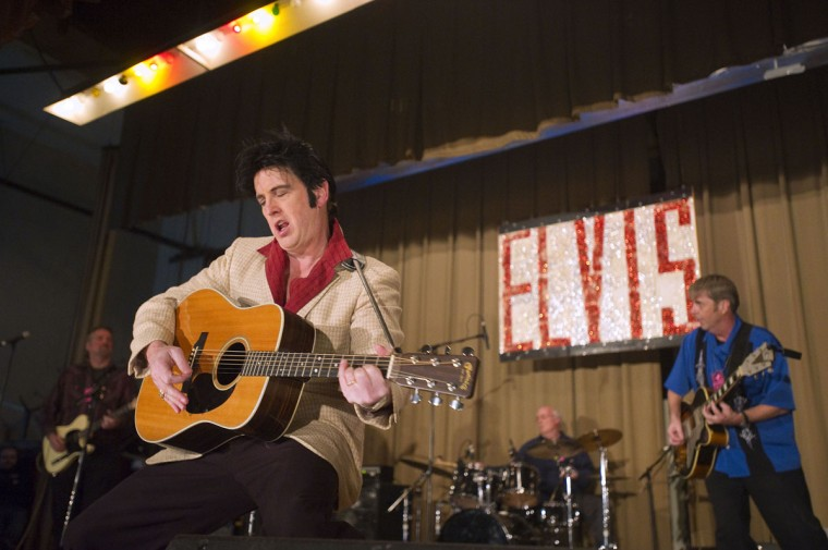 December 3, 2010: Elvis impersonator Jed Duvall of Glen Burnie sings during the Night of 100 Elvises at Lithuanian Hall. (Karl Merton Ferron/Baltimore Sun)