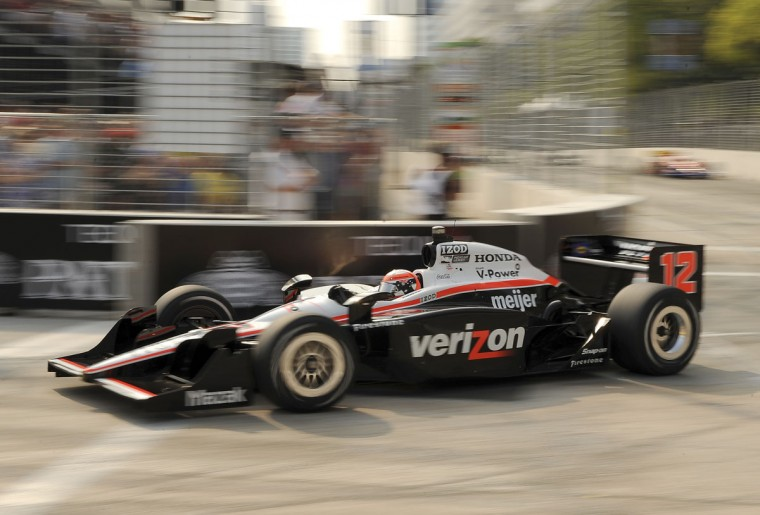 The winner of the Baltimore Grand Prix, Will Power rounds turn one near the end of his dominant win on Sept. 4, 2011. (Gene Sweeney Jr./Baltimore Sun)