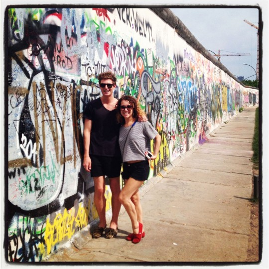 Nick and Courtney at the Berlin Wall
