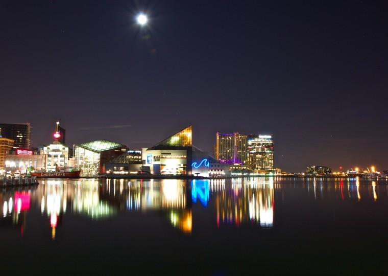 The Inner Harbor at night. (Joe Sterne)