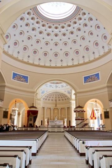 The Basilica Dome before the earthquake. (Joe Sterne)