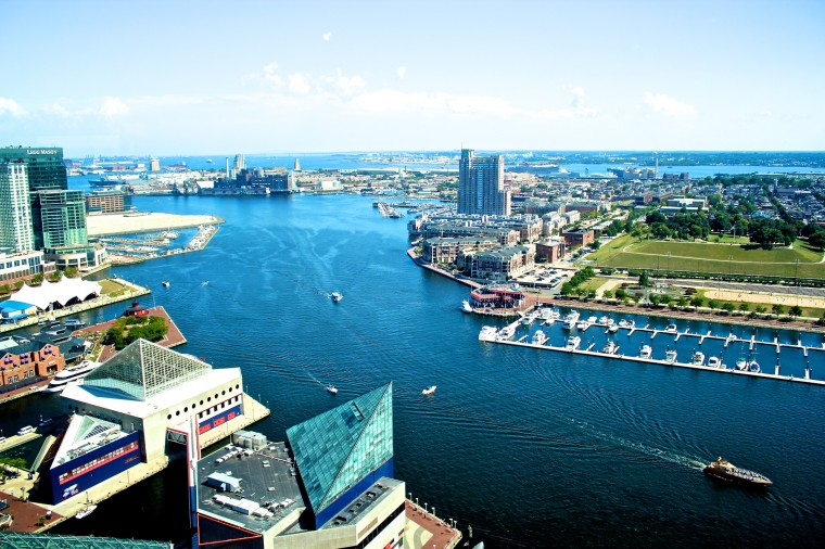 The Inner Harbor from the top of the World Trade Center. (Joe Sterne)
