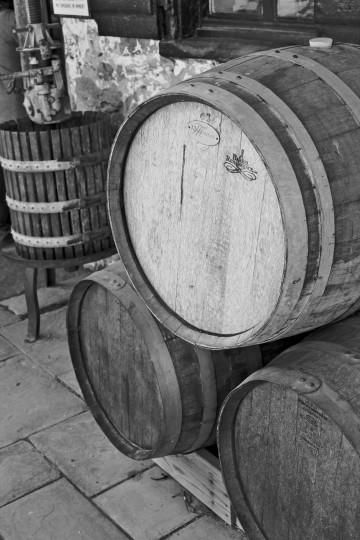 Wine barrels from Boordy Vineyard. (Joe Sterne)