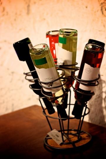 A wine rack at Boordy Vineyard. (Joe Sterne)