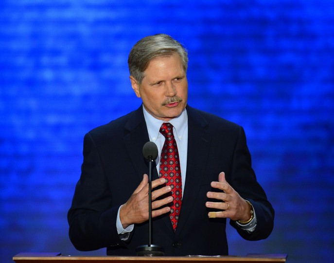 U.S. Sen. John Hoeven (R-ND), co-chair of the Platform Committee, speaks at the 2012 Republican National Convention at the Tampa Bay Times Forum in Tampa, Tuesday, August 28, 2012. (Harry E. Walker/MCT)