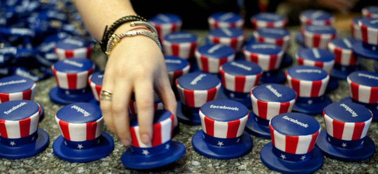 Facebook handed out Uncle Sam squeezable stress relievers at the 2012 Republican National Convention in the Tampa Bay Times Forum in Tampa, Florida. (Glen Stubbe/Minneapolis Star Tribune/MCT)