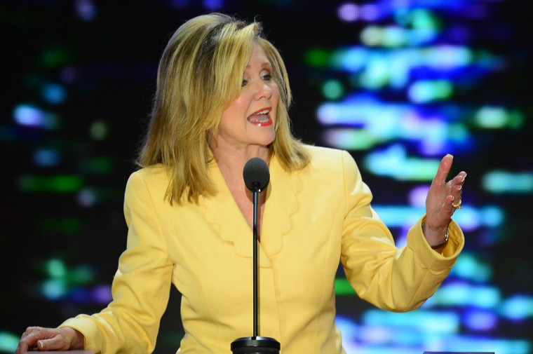 U.S. Rep. Marsha Blackburn (R-TN) co-chair of the Platform Committee, speaks at the 2012 Republican National Convention at the Tampa Bay Times Forum in Tampa, Tuesday, August 28, 2012. (Harry E. Walker/MCT)