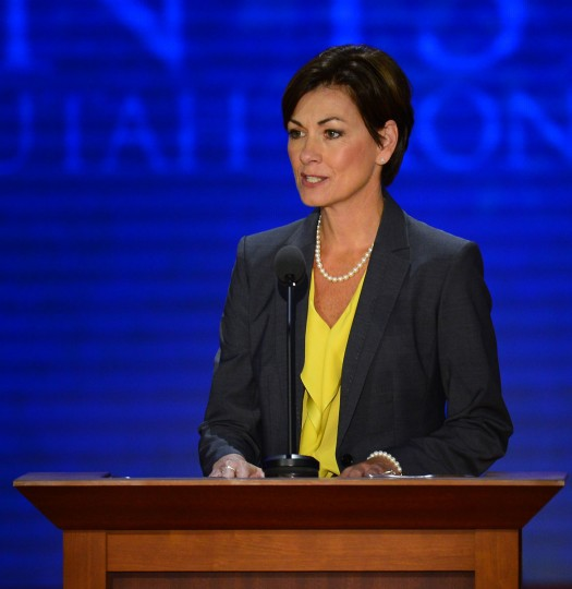 Secretary of the convention, Lt. Gov. Kim Reynolds (IA) delivers remarks as RNC chairman at the second session of the 2012 Republican National Convention at the Tampa Bay Times Forum in Tampa, Tuesday, August 28, 2012. (Harry E. Walker/MCT)