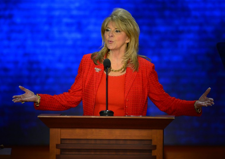 RNC co-chair Sharon Day speaks at the second session of the 2012 Republican National Convention at the Tampa Bay Times Forum in Tampa, Tuesday, August 28, 2012. (Harry E. Walker/MCT)