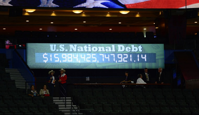 The U.S. National Debt clock is seen at the second session of the 2012 Republican National Convention at the Tampa Bay Times Forum in Tampa. (Harry E. Walker/MCT)