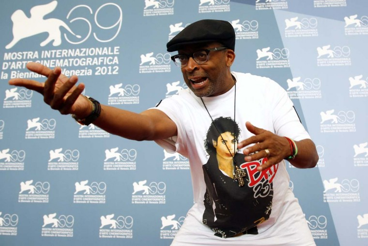 """U.S. director Spike Lee poses during the photocall of the movie """"Bad 25"""" at the 69th Venice Film Festival in Venice August 31, 2012. (Max Rossi/Reuters photo)"""