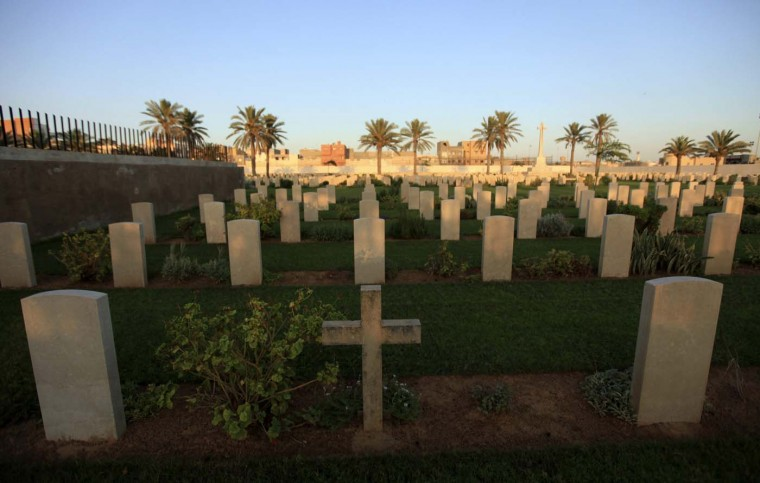 A general view is seen of Tripoli Military Cemetery for soldiers who died in World War II in Tripoli August 12, 2012. The cemetery was built by the Commonwealth War Graves Commission in Tripoli. (Esam Al-Fetori/Reuters)