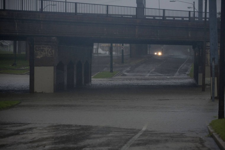 Water floods a highway underpass as Hurricane Isaac hits New Orleans, Louisiana August 29, 2012. (Lee Celano/Reuters)