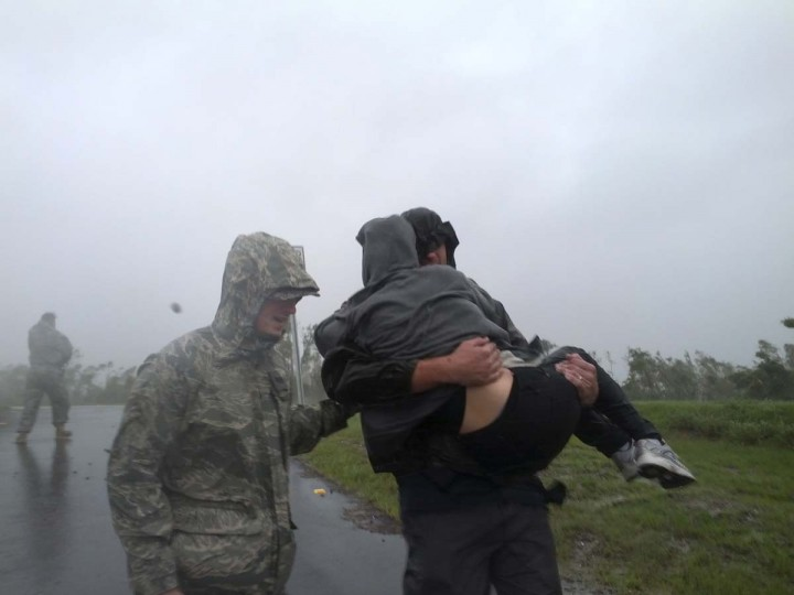 Airmen from the Louisiana National Guardsmen help rescue citizens from Braithwaite in Plaquemines Parish near New Orleans during Hurricane Isaac . (Cpt. Lance Cagnolatti/U.S. Army)