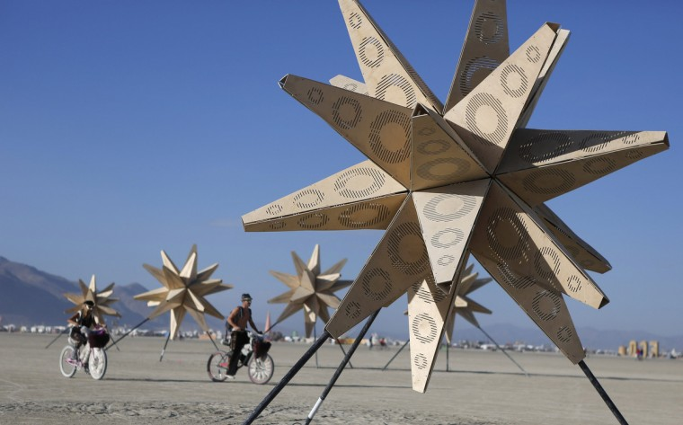 An art installation is pictured at sunrise. (Jim Urquhart/Reuters)