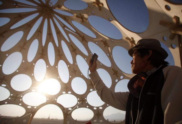 """Bingram Lai explores """"Zonotopia and the Two Trees."""" (Jim Urquhart/Reuters)"""