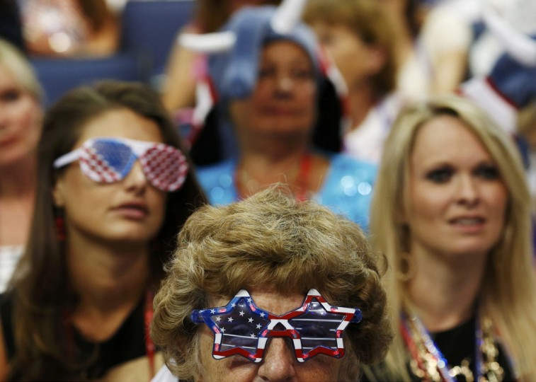 Participants listen during the final session of the Republican National Convention in Tampa, Florida. (Eric Thayer/Reuters)