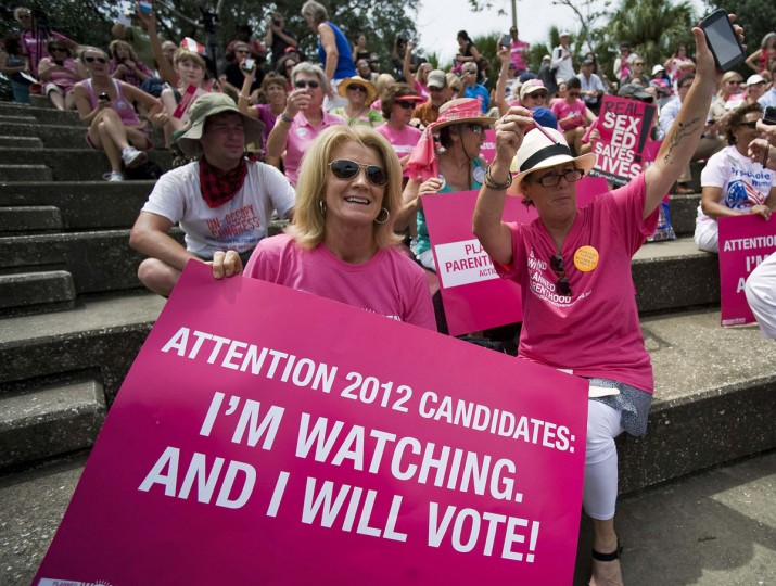 Supporters of Planned Parenthood attend a rally near the Republican National Convention in downtown Tampa, Florida, August 29, 2012. (Steve Nesius/Reuters)