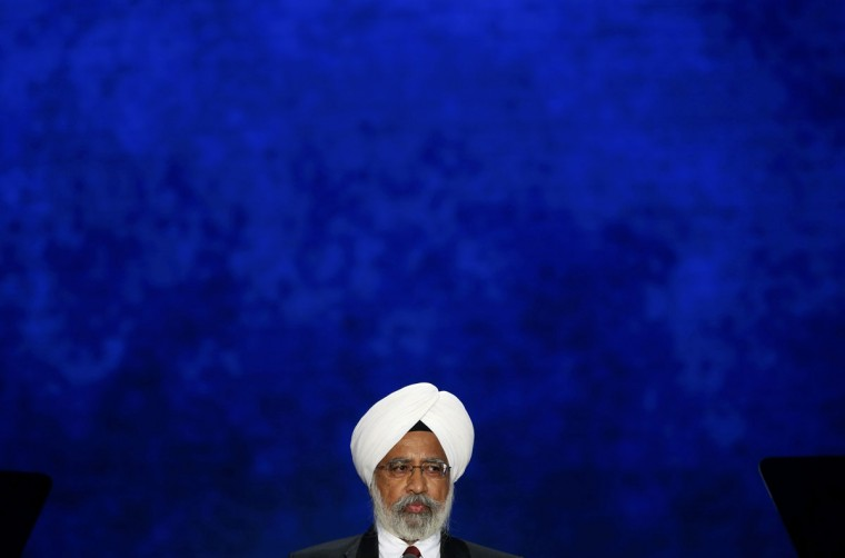 Ishwar Singh, head of the Sikh Society of Central Florida, gives the invocation to start the third session of the Republican National Convention in Tampa, Florida, August 29, 2012. (Mike Segar/Reuters)