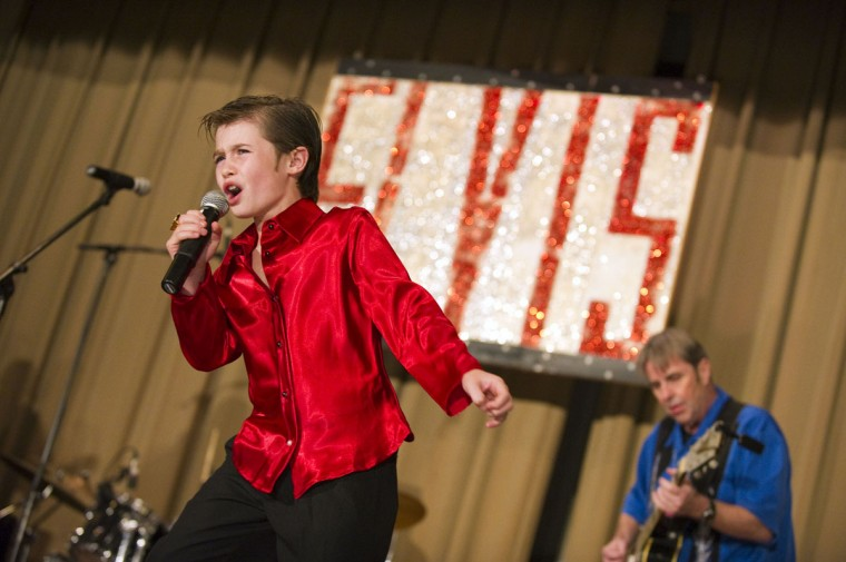 December 3, 2010: Drew Ahern, 10, of Crofton performs during the Night of 100 Elvises at Lithuanian Hall. (Karl Merton Ferron/Baltimore Sun)