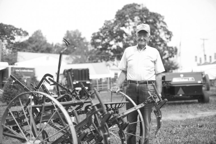 Bufort Perry of Woodbine reminisces working on a farm while at the Howard County Fair. (Sarah Pastrana/Patuxent Homestead) Video: Memories of Working on a Farm