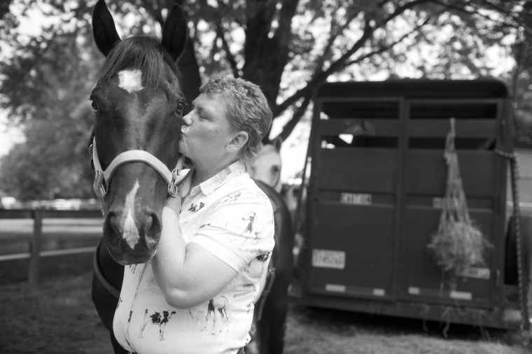 Cathy McElroy of Taneytown talks about her horses at the Howard County Fair. (Sarah Pastrana/Patuxent Homestead) Video: A Woman and her Horse