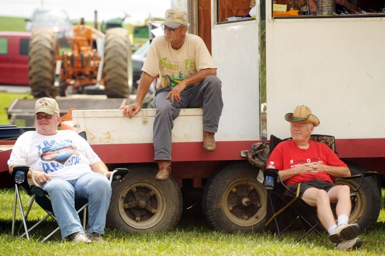 Day 1: Spectators watch the tractor pull competition on Saturday. (Brian Krista/Patuxent Homestead)