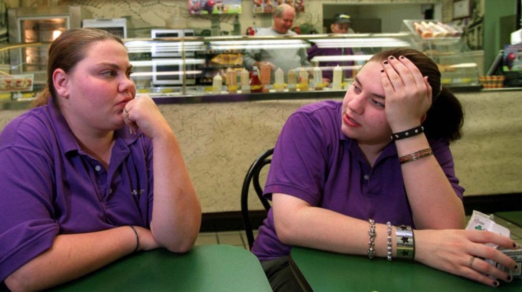 After being the first witnesses to provide authorities with information about accused sniper John Allen Muhammed, subway employees Marty Ruby (left) and Holly Thompson have been interviewed by national newspapers and appeared on several national news programs. (Elizabeth Malby/Baltimore Sun)
