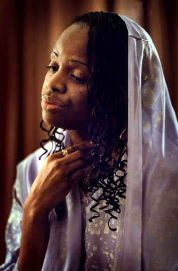 Mildred Muhammad, ex-wife of sniper suspect John Allen Muhammad, is shown Wednesday, Nov. 6, 2002, in Washington. Mildred, 42, said during an interview with The Washington Post published Friday, that she was convinced Muhammad's chief purpose in coming to the Washington area was to kill her and reclaim the couple's three children. She expressed her sorrow over the deaths of the sniper victims. (Dudley Brooks/The Washington Post)