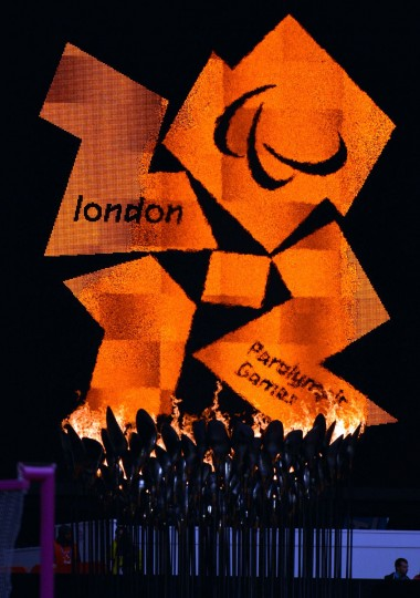 A general view of the Paralympic flame and cauldron during the London 2012 Paralympic Games at Olympic Stadium on August 31, 2012. (Leo Mason/US Presswire)
