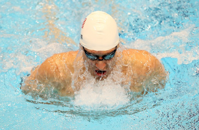 Bradley Snyder of United States in action during the Men's 100m Breaststroke - SB11 heat on day 5 of the London 2012 Paralympic Games at Aquatics Centre on September 3, 2012 in London, England. (Scott Heavey/Getty Images)