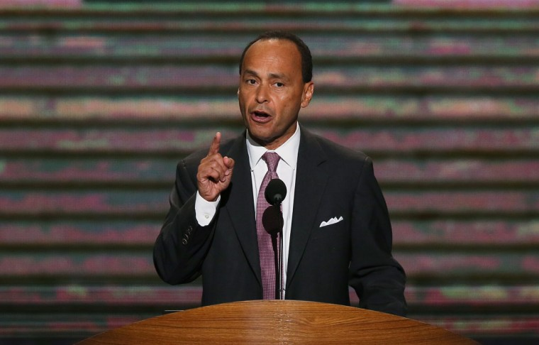 U.S. Rep. Luis V. Gutierrez (D-IL) speaks during day two of the Democratic National Convention at Time Warner Cable Arena in Charlotte, North Carolina. (Alex Wong/Getty Images)