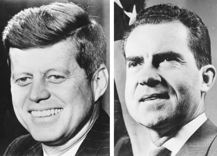 John F Kennedy (L) vs. Richard Nixon: In 1960, John F Kennedy won the presidential election to become the President of the United States. Photo credit: (Keystone/Getty Images)(L) and (Keystone/Getty Images)(R).
