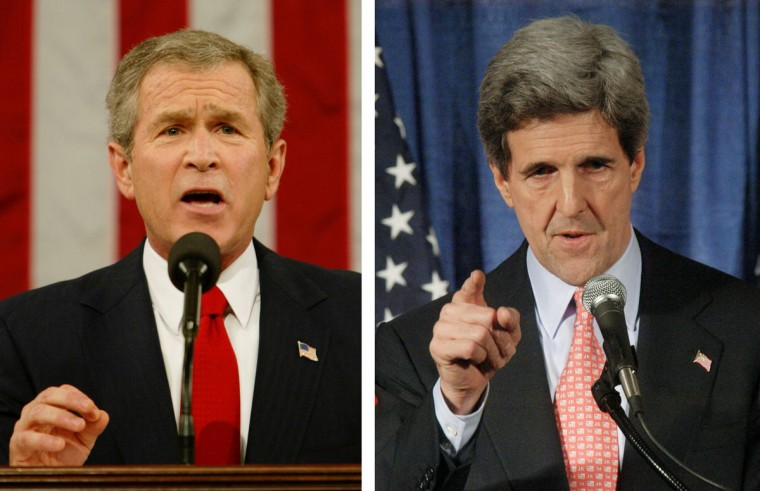 George W. Bush (L) vs. John Kerry: In 2004, George W. Bush won the presidential election to become the President of the United States. Photo Credit: (Kevin Lamarque-Pool/Getty Images)(L) and (William B. Plowman/Getty Images)(R).