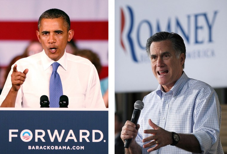 Barack Obama (L) vs. Mitt Romney: The November 6, 2012 elections will decide between Obama and Romney who will win to become the next President of the United States. Photo Credit: (Marc Serota/Getty Images)(L) and (Justin Sullivan/Getty Images)(R).